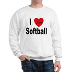 I Love Softball (Front) Sweatshirt