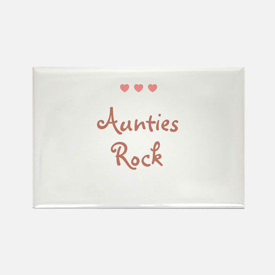 Aunties Rock Rectangle Magnet