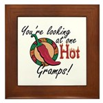 You're Looking at One Hot Gramps! Framed Tile