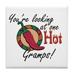 You're Looking at One Hot Gramps! Tile Coaster