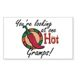 You're Looking at One Hot Gramps! Sticker (Rectang