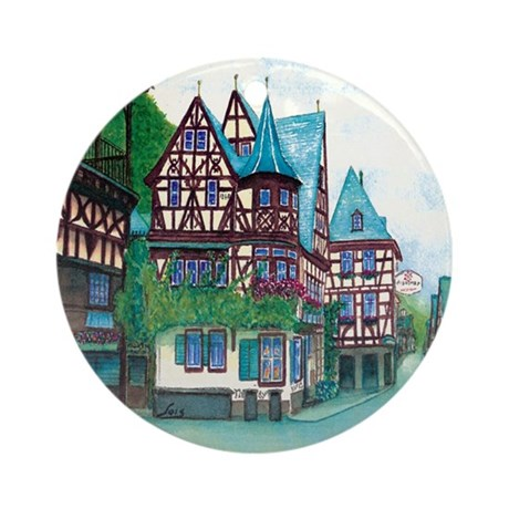 Crooked little house Ornament (Round)