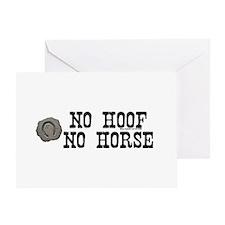 No hoof, no horse. Greeting Card
