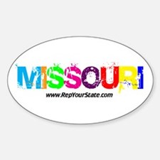 Colorful Missouri Oval Decal