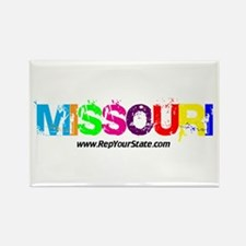 Colorful Missouri Rectangle Magnet