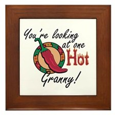 You're Looking at One Hot Granny! Framed Tile