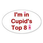 Cupids Top 8 Oval Sticker
