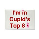 Cupids Top 8 Rectangle Magnet