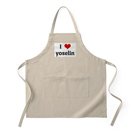 I Love yoselin BBQ Apron
