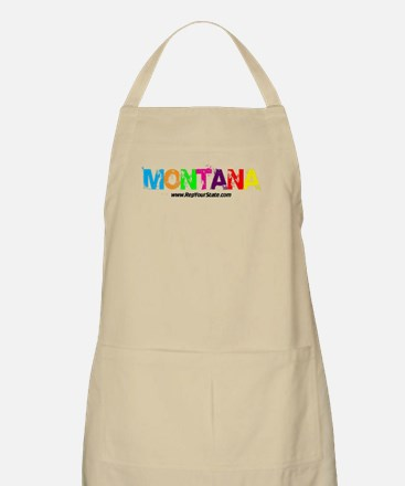 Colorful Montana BBQ Apron