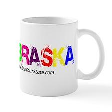 Colorful Nebraska Mug