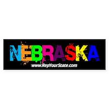 Colorful Nebraska Bumper Bumper Sticker