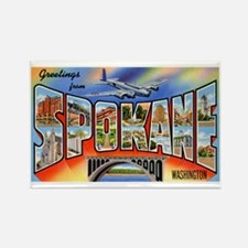 Spokane Washington Greetings Rectangle Magnet