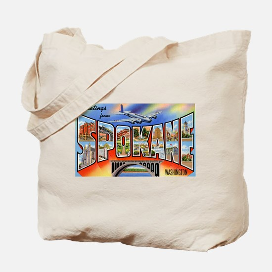Spokane Washington Greetings Tote Bag