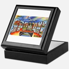 Spokane Washington Greetings Keepsake Box