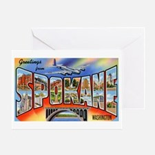 Spokane Washington Greetings Greeting Card