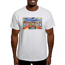 Spokane Washington Greetings (Front) T-Shirt
