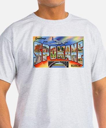 Spokane Washington Greetings (Front) T-Shirt