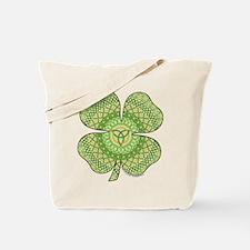Celtic Shamrock Tote Bag