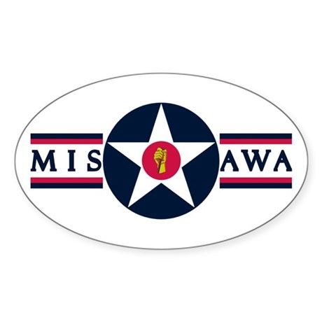 Misawa Air Base Oval Sticker
