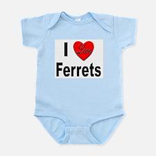 I Love Ferrets Infant Creeper