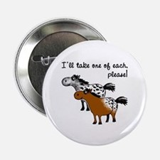 """Appaloosa, one of each. 2.25"""" Button"""