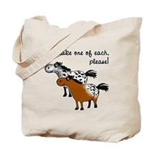 Appaloosa, one of each. Tote Bag
