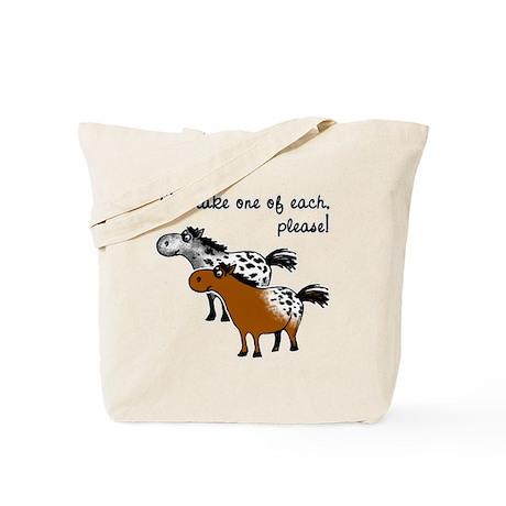Appaloosa, one of each. Tote Bag