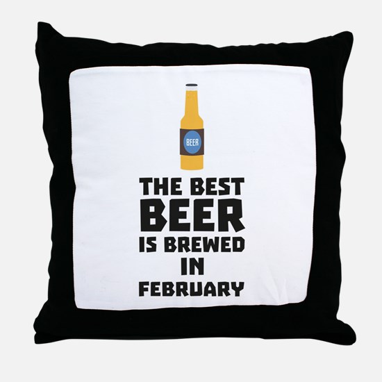 Best Beer is brewed in February C4i8g Throw Pillow