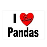 I Love Pandas for Panda Lovers Postcards (Package