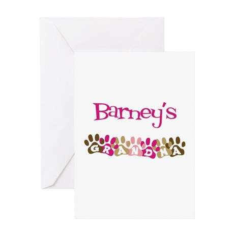 Barney's Grandma Greeting Card