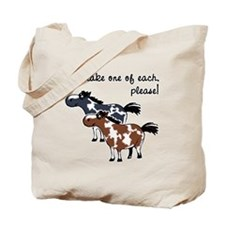 Paint horses, one of each. Tote Bag