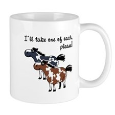Paint horses, one of each. Mug