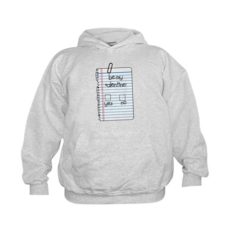Be My Valentine: Check Yes or No Kids Hoodie
