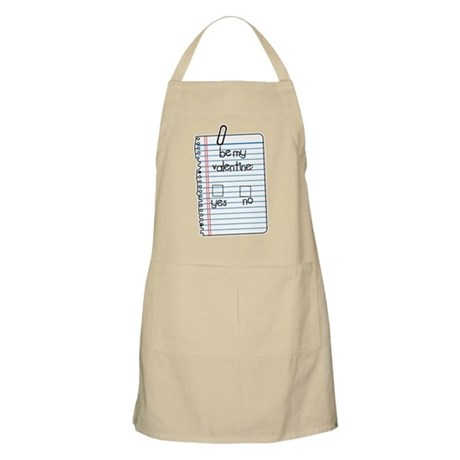 Be My Valentine: Check Yes or No BBQ Apron