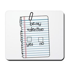 Be My Valentine: Check Yes or No Mousepad