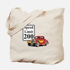 200 MPH Red Hot Rod Tote Bag