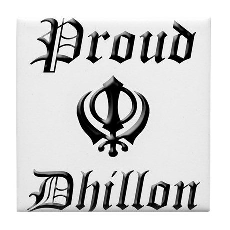 Proud Dhillon Tile Coaster