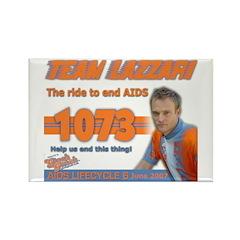 Team Lazzari Rectangle Magnet (100 pack)