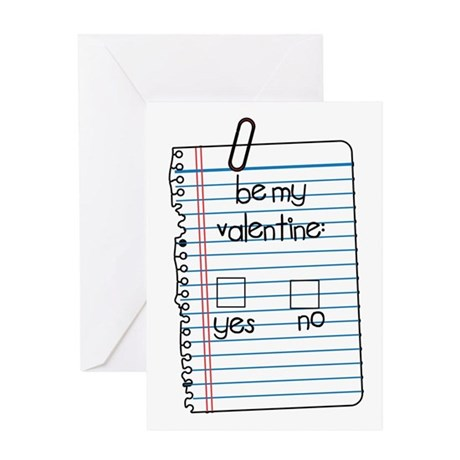 Be My Valentine: Check Yes or No Greeting Card