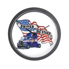United We Stand Big Rig Wall Clock