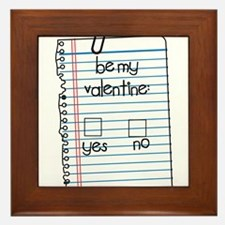 Be My Valentine: Check Yes or No Framed Tile