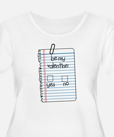 Be My Valentine: Check Yes or No T-Shirt