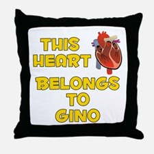 This Heart: Gino (A) Throw Pillow