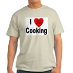 I Love Cooking for Cooks (Front) Ash Grey T-Shirt