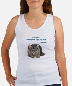 Cat Motto Women's Tank Top