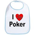 I Love Poker Bib