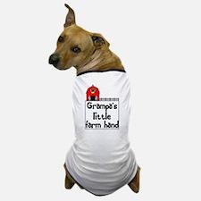 """Grampa's Little Farm Hand"" Dog T-Shirt"