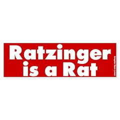 Ratzinger is a Rat Bumper Bumper Sticker