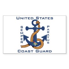 OES USCG Rectangle Decal